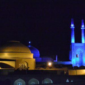 la moschea del venerdì a yadz in iran