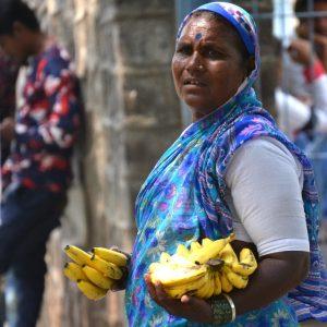 venditrice di banane in india centrale