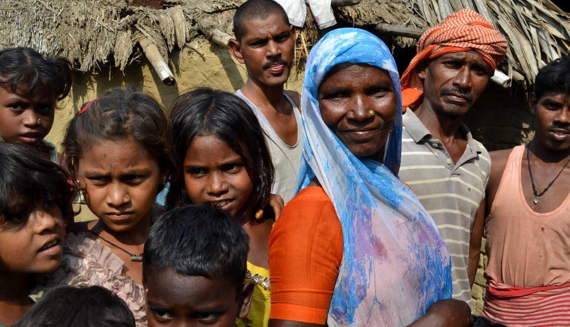 villaggio dalit fuori bodhgaya in bihar
