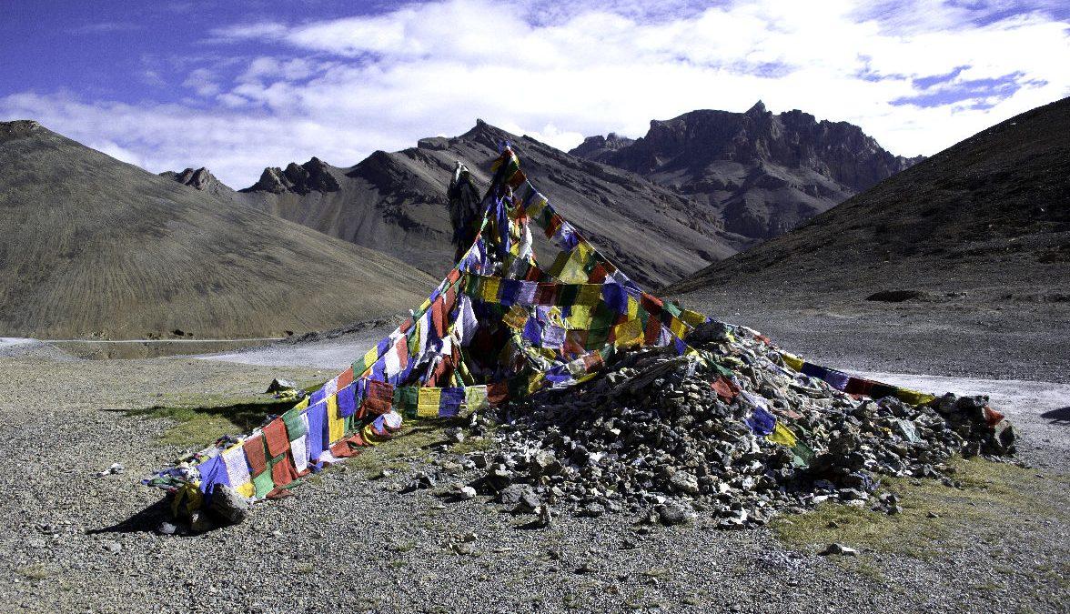 bandierine tibetane in ladakh