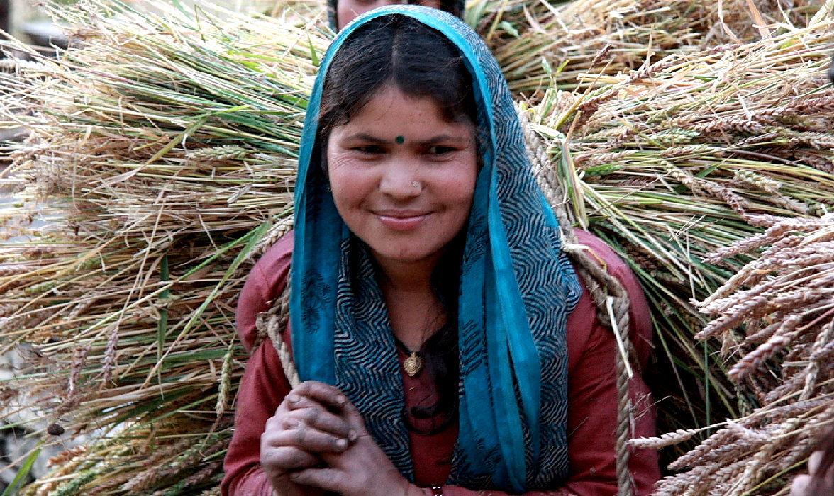 contadina uttarakhand india del nord