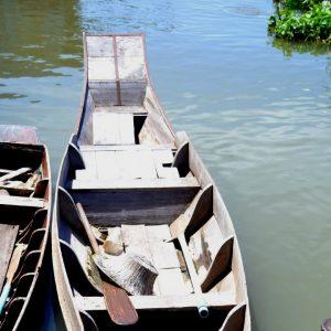 le barche con le quali si visitano i floating market a bangkok