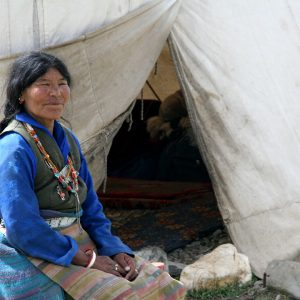 la tenda dei nomadi a Debring in Ladakh