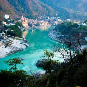 vista di rishikesh in india