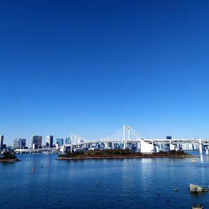 lo skyline di tokyo in giappone