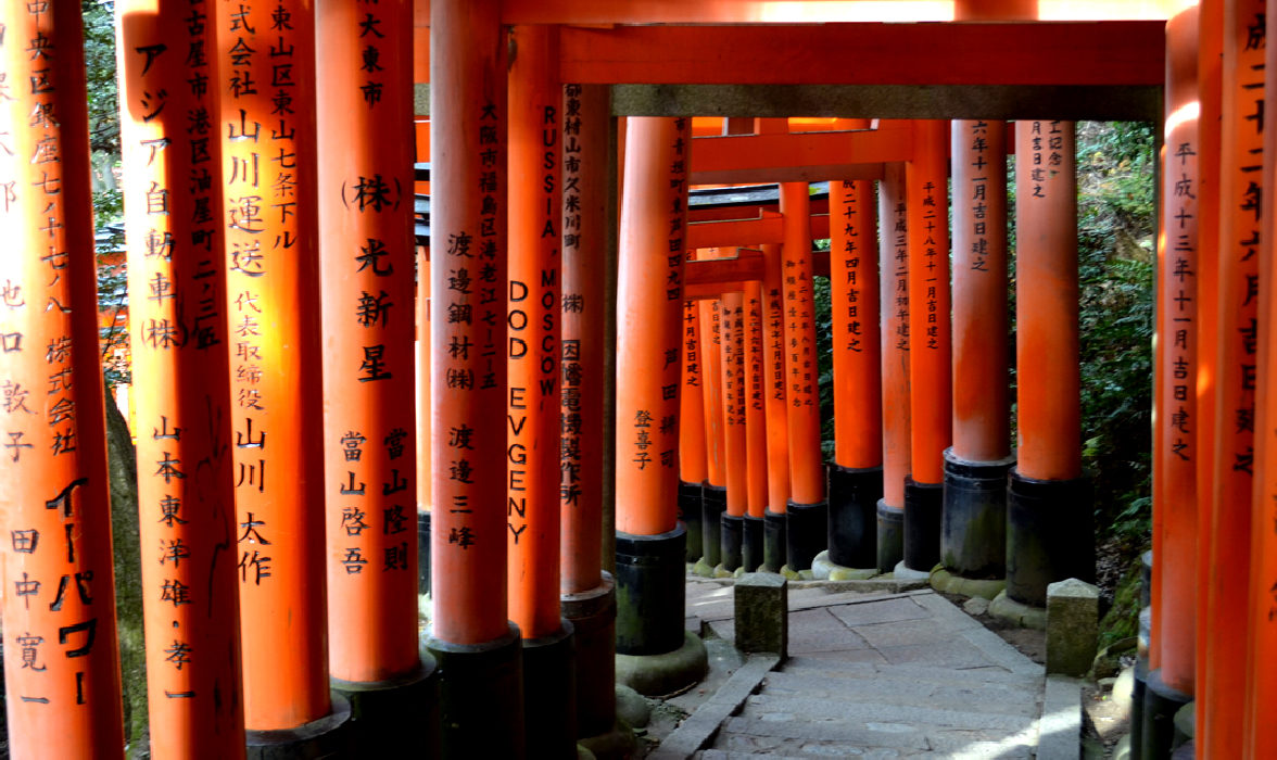 luogo di culto fushimi inari vicino a kyoto