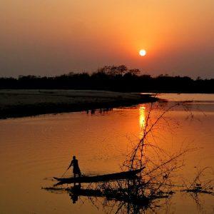 tramonto a majuli in assam