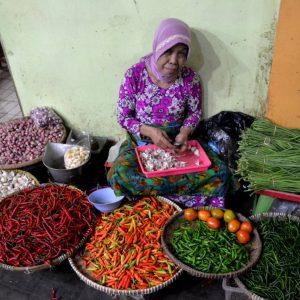 venditrice ambulante a yogyakarta