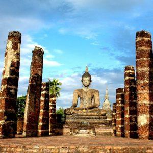 il wat mahathat a sukhothai in thailandia
