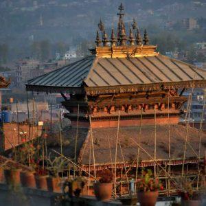il tempio di akash bhairab a bhaktapur