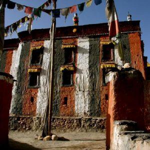 architettura tibetana classica in mustang