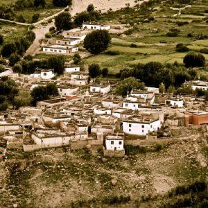 il villaggio di lo manthang in mustang
