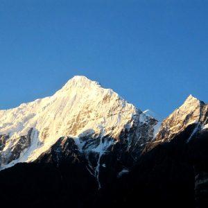 le montagne viste da jomson in nepal