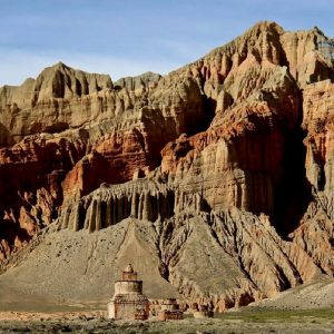 paesaggio in mustang in nepal