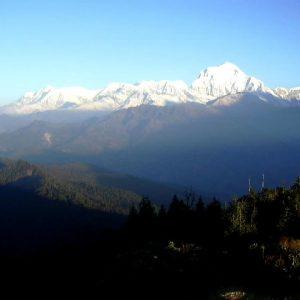 poon hill e la vista delle montagne