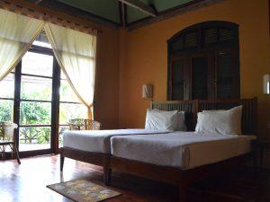camera di albergo in laos
