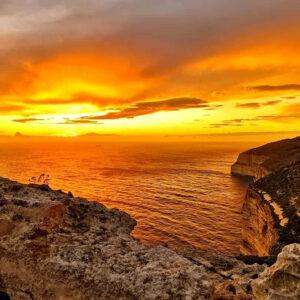 le Dingli Cliffs sono uno dei punti più alti di Malta