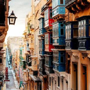 città balneare di Sliema a Malta
