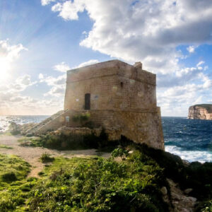 torre di Xlendi sull'isola di Gozo